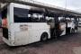 Hopa'da seyir halindeki yolcu otobüsü yandı
