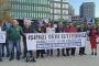 """Üsküdar Belediye işçilerinden """"ekmekli"""" eylem: İşimizi geri istiyoruz"""