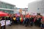 Almayan'da Bosch işçileri işten atmalara karşı eylem düzenledi