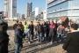 Elya Center şantiyesinde ücretleri ödenmeyen işçiler şantiye diye karakola götürüldü