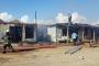 Çorlu'da inşaat işçilerinin kaldığı konteynerlerde yangın çıktı