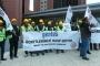 Gentes bünyesinde çalışan inşaat işçileri verilmeyen hakları için direniyor