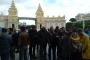 Antalya'da ücretleri ödenmeyen Madran Palace Hotel işçileri haklarını istiyor