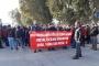Mersin Çimsataş işçileri eylem yaptı