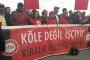 DİSK, kiralık işçi yasa tasarısını protesto etti
