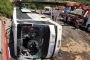 Tatil dönüşü tur otobüsü devrildi: 6 ölü, 20 yaralı