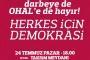 'Demokrasi' talebiyle Taksim Meydanı'nda olacaklar