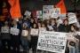 Cumhuriyet'in Ankara bürosu önündeki eyleme polis engeli