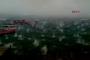 Eskihisar'da büyük kütleli dolu yağışı şaşırttı
