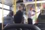Şoför otobüsü durdurdu, 'Psikolojim bozuldu, inin' dedi