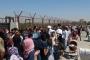 Suriye sınırında bayram izdihamı