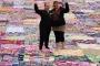 Evsizler ve mülteciler için 770 metrekarelik dev battaniye