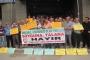 Tüm Köy Sen üyelerinden borsa önünde fındık protestosu