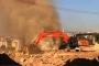 Sivas'ta iş makinesi doğalgaz borusunu deldi