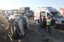 Urfa'da işçi servisi devrildi: 14 kişi yaralandı