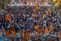 Katalonya'da öğrenciler eylemdeydi