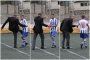 Amatör futbolcuya saha ortasında kulüp başkanından dayak!