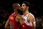 LeBron James, Enes Kanter'le atıştı, Cavs Knicks'i yendi