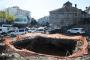 Trabzon'da yıkılan binanın altından tarihi köprü çıktı