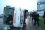 Tekirdağ'da işçi servisi devrildi: 19 yaralı