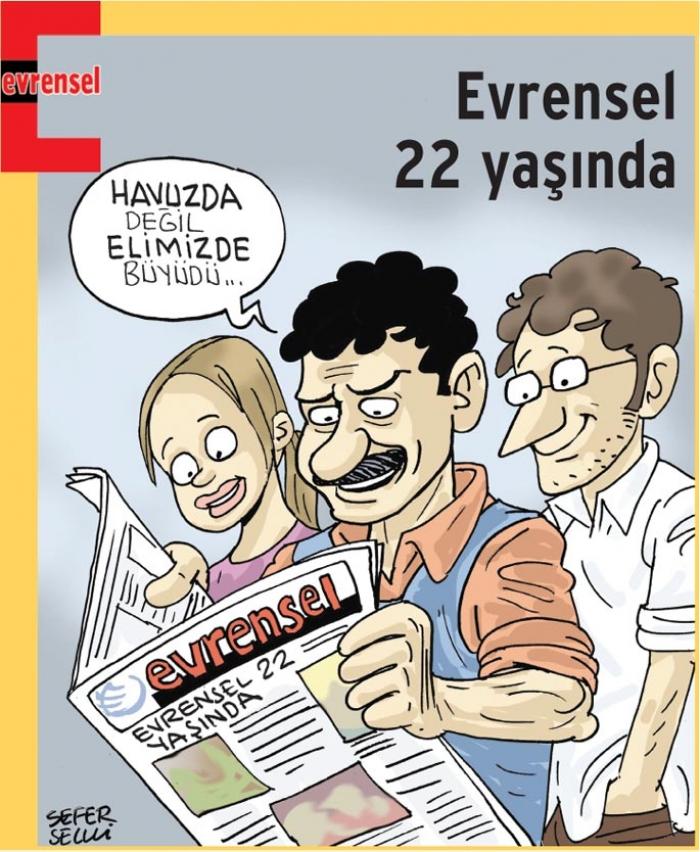 22 yaşına giren Evrensel'in 22 manşeti