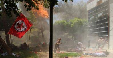 Suruç'ta patlama anı kameralara yansıdı