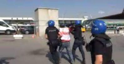 Çalışma Bakanlığına yürüyen KESK'lilere saldırı